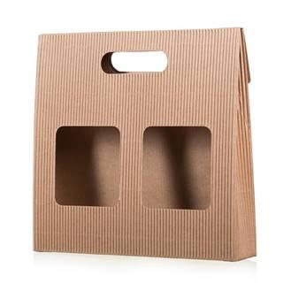 Darčeková krabica na kávu s okienkami