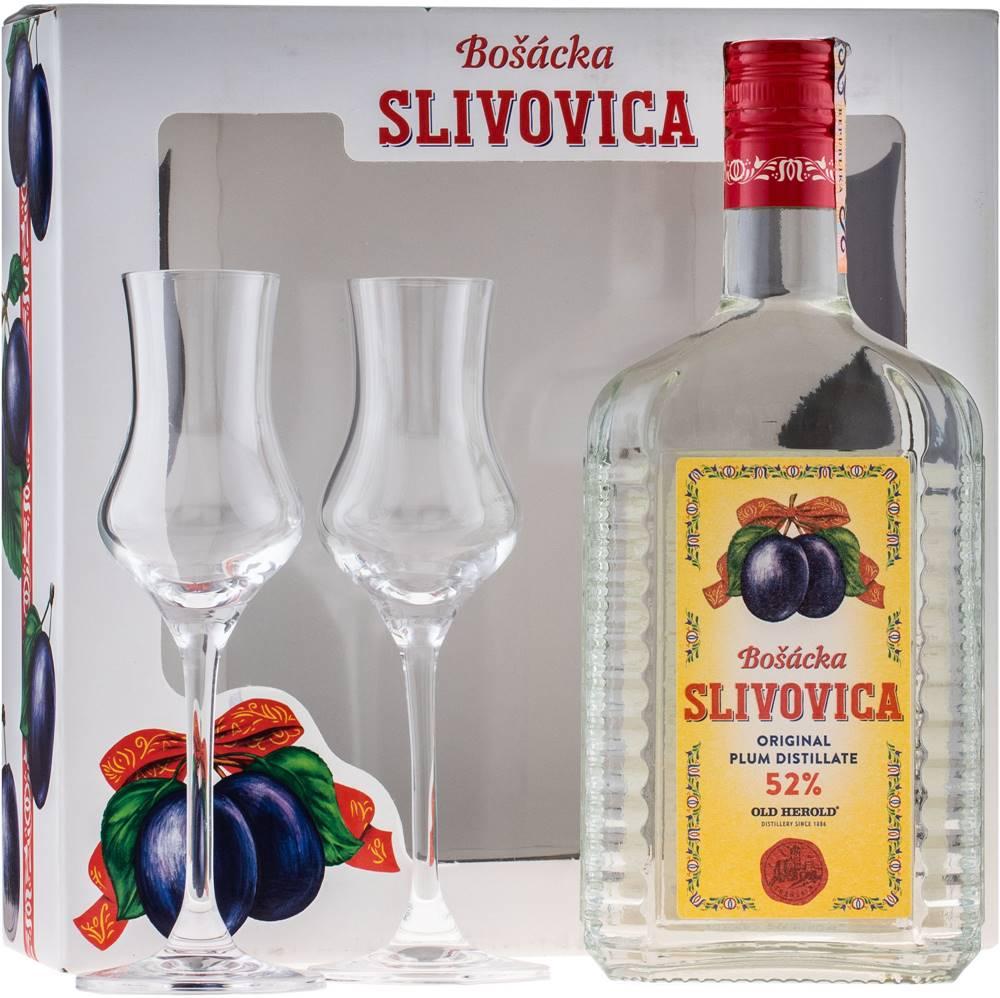 Bošácka Bošácka Slivovica Hranatá s 2 pohármi 52% 0,7l