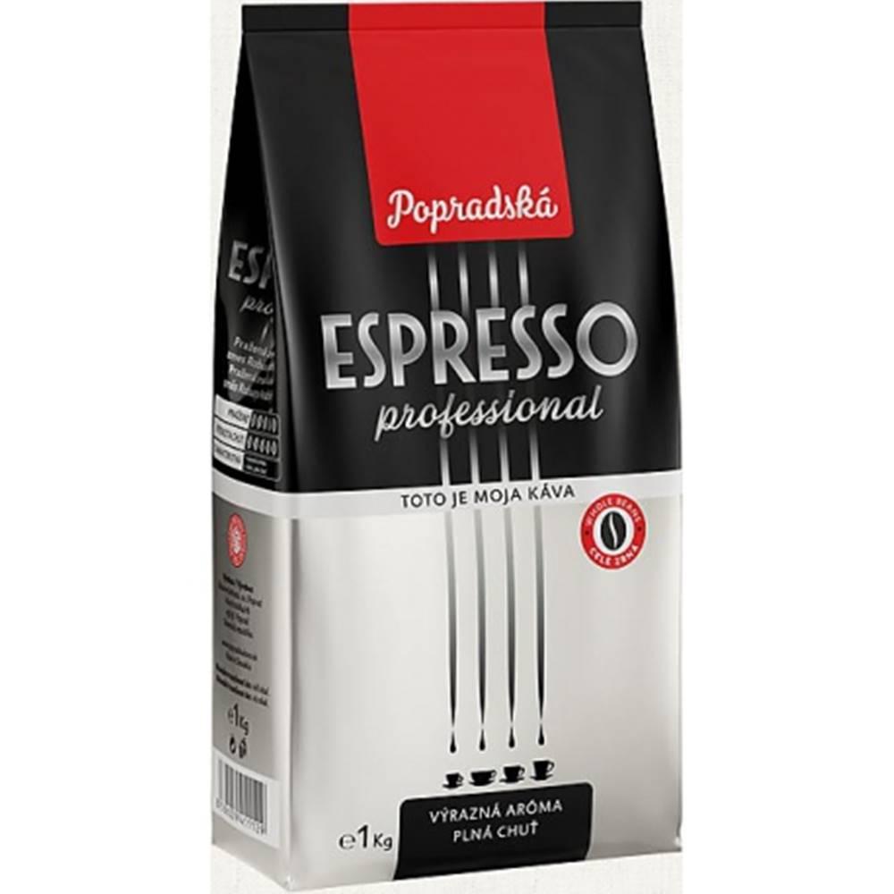 POPRADSKÁ KÁVA Káva Espresso Professional, BOP, zrnková, 1 kg popradská